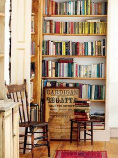 Restored Victorian Mill, Reading Nook #books #bookshelf