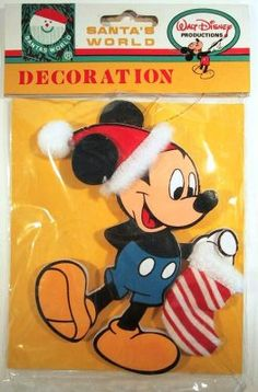 Mickey Mouse with sack wooden ornament from Fantasies Come True