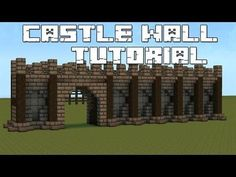 In this tutorial I will show you step by step how to build a castle wall in minecraft. Château Minecraft, Minecraft Castle Walls, Casa Medieval Minecraft, Minecraft Building Guide, Minecraft Construction, Amazing Minecraft, Cool Minecraft Houses, Minecraft Tutorial, Minecraft Blueprints