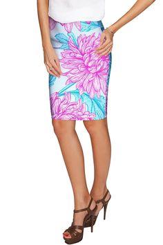 Floral Bliss Carol Knee Length Catchy Pencil Skirt - Women