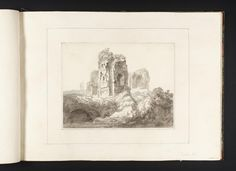 Joseph Mallord William Turner, Thomas Girtin 'Rome: Ruins on the Palatine Hill',    ---  From Album of Copies of Italian Views for Dr Thomas Monro   ---   c.1794–8  -  Ink wash and watercolour on paper -  Collection -  Tate