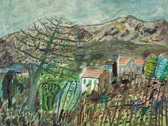 'Landscape in Ischia' (c.1950) by German artist Werner Gilles (1894-1961). via pink pagoda studio