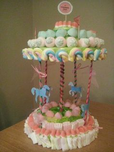más y más manualidades: Cómo hacer carruseles con dulces