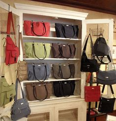 Baggallini bags and totes on display in chicken wire cabinet at r.h.  ballard shop in little 3c601b4a4605c