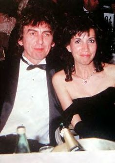 George and Olivia at the BAFTAS source: Beatle Wives & Girls Page on Facebook