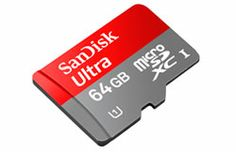 SanDisk Ultra microSDXC UHS-I Card (64 GB).  When you buy a phone with a microSD slot, you might as well use it.  NOTE:  I will probably fill the whole thing with videos of Theo.