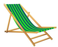Transparent Green Beach Lounge Chair PNG Clipart