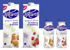 Get a carton of Optiwell yogurt drink for free direct from the manufacturer. We know it can be difficult to resist temptation. So we've come up with a deli Yogurt Packaging, Milk Packaging, Beverage Packaging, Lactose Free Milk, Strawberry Drinks, Calories In Sugar, Healthy Drinks, Deli, Free Food