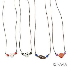 Sports ball necklace craft