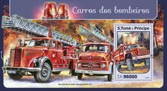 Official thematic - topical stamps, new stamp issues Fire Trucks, Stamps, World, Seals, Firetruck, Postage Stamps