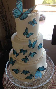 Mariposas en papel comestible para decorar tartas, cupcakes