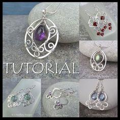 Wire Jewelry Tutorial BLOSSOM DROPS Pendant di KSJewelleryDesigns