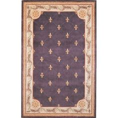 """Jewel Fleur-De-Lis Grape 2'6"""" x 10'0"""" Runner Rug by KAS. $365.40. Jewel 0312 FLEUR-DE-LIS grape rug by KAS Oriental Rugs Inc. is a hand tufted rug made from wool. It is a 2 x 10 area rug runner in shape. The manufacturer describes the rug as a grape 2'6"""" x 10'0"""" area rug. Buy discount rugs with Buy Area Rugs .com SKU jew031226x10ru
