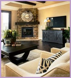 27+ Stunning Fireplace Tile Ideas for your Home   Furniture layout ...