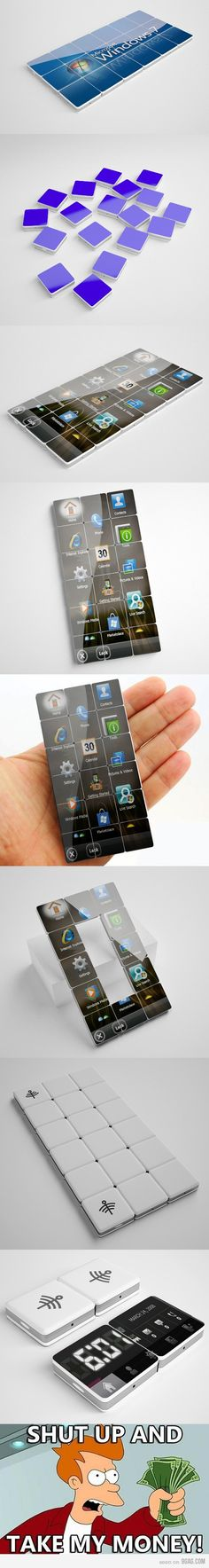 Want whatever this is. I assume phone but it's awesome. Not sure what the bottom means but the tile thing is what I want