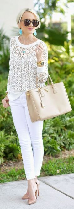 Neutrals With A Pop.. Outfit Idea by A spoonful of Style