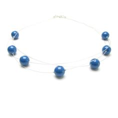 £25 ThisArapearl necklace is a perfect for the House of Colour winter palette, with 7largepearls hung in a staggered pattern across three  strands of silvertiger-tail thread.  Shown here with lapis blue pearls, anywinterSwarovski pearl colourcan be  chosen for this necklace (see the winterpalette below). Thensimply choose  from the list displayed when when you 'Add to cart'.  The necklace is approximately 45cm (18'') long.  'Ara' means 'Brings rain', which to me follows the rain…