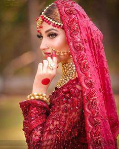 Pakistani Bridal Makeup, Pakistani Wedding Outfits, Bridal Outfits, Bridal Dresses, Beautiful Pakistani Dresses, Beautiful Indian Brides, Indian Bridal Photos, Indian Bridal Fashion, Indian Bride Photography Poses