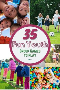 35 Fun Youth Group Games to Play. Be prepared for the next kids game day with this list of fun games. #games #groupgames #howtoplay #gameguide #guide #instructions #kidsgames youth group games indoor   fun youth group games   outdoor youth group games   youth group games for teens   easy youth group games   no prep youth group games   outside youth group games   messy youth group games   small youth group games   christmas youth group games   youth group games indoor team building Outdoor Youth Games, Fun Youth Group Games, Group Games For Teenagers, Team Games For Kids, Kid Games Indoor, Outside Games For Kids, Group Games For Kids, Indoor Team Building Games, Building Games For Kids