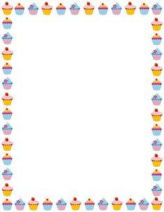 Resultado de imagem para cup cakes border