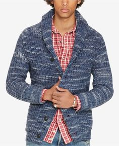 aa2c772bf Denim   Supply Ralph Lauren Men s Shawl-Collar Cardigan   Reviews - Sweaters  - Men - Macy s