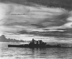 CV-16 — USS North Carolina (BB-55) off Hawaii, 15 October...