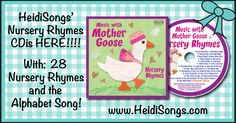 Our New HeidiSongs Nursery Rhymes CD is HERE!!  (FREE SHIPPING!)  So cute!