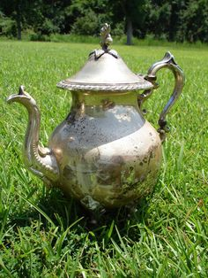 Vintage Silver Teapot by TwoFireflys on Etsy                                                                                                          SOLD
