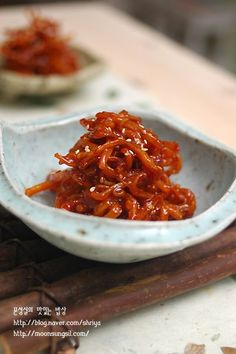 Dried squid for Ban Chan (Korean Side dish) Korean Side Dishes, Vegan Party Food, Baking Items, Asian Recipes, Ethnic Recipes, Vegetable Seasoning, Korean Food, Macaroni And Cheese, Chili
