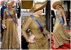 Queen Maxima of the Netherlands gown by Jan Taminiau