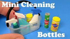 DIY Miniature Cleaning Bottles - Supplies