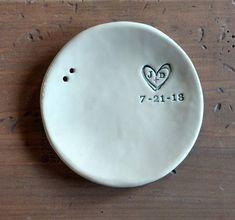 Round Ring Bearer Dish Wedding Gift Ceramic Ring Holder