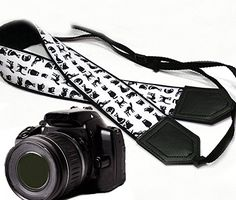 Black cat Camera Strap. Black DSLR / SLR Camera Strap. Camera accessories. Photographer gift. Durable, light weight and well padded camera strap. code 00004 * Continue to the product at the image link. (This is an Amazon Affiliate link and I receive a commission for the sales)