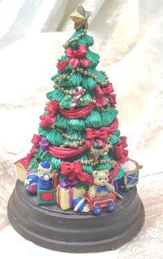 Vintage Christmas Tree Music Box Plays O Christmas Tree by NorthCoastCottage Jewelry Design & Vintage Treasures on Etsy.com, $39.00