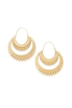 Forever 21 | Gold Etched Drop Earrings