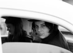 The White Stripes (Jack and Meg) in the Mayor of Yellowknife's car in Yellowknife, Northwest Territories by Autumn de Wilde
