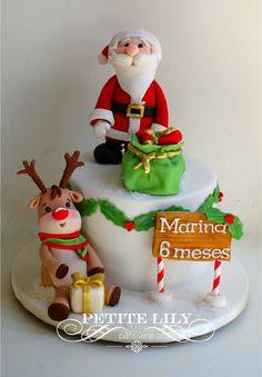Bolo mesversario Natal / Papai Noel / Christmas cake.