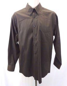GEOFFREY BEENE Sateen Champagne Light Tan Button Down Shirt Men's ...