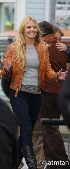 Jennifer Morrison on set - October 22, 2014