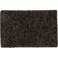 drake grey shag rug | CB2