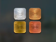 Romanian coins transformed into iOS icons.