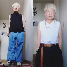 "@kyoko3136 on Instagram: ""#初老女のコーデ 色々思うことはあるにしろ 今日は 今日しかない私を生きよう。"" Waist Skirt, High Waisted Skirt, Overalls, Skirts, Pants, Instagram, Fashion, Trouser Pants, Moda"