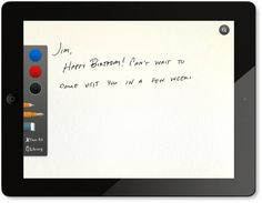 An App That Lets You Send Physical Handwritten Cards From Your iPad - This iPad app allows users to choose from a range of original card designs before customizing it with a handwritten message—these messages are actually written by hand on the iPad, and not typed out using a standard font, thus retaining their personal touch.