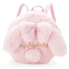 Japanese Anime Onegai My Melody Fluffy Bunny Backpack SD02308 Cute Mini  Backpacks 608a5c07f31d7