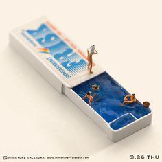 Tatsuya Tanaka crafts intricate miniature calendar of everyday s