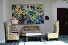 Install at Rancho Las Palmas Resort Creative Art, Paintings, Las Palmas, Paint, Painting Art, Painting, Painted Canvas, Drawings, Grimm