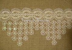 Bico em Crochê -  /  Crochet Tip -  1