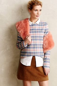 Blushed Plaid Pullover