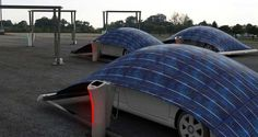 Solar-Tent - charges and protects your car at the same time