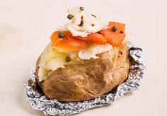 Cream Cheese and Lox Stuffed Baked Potato — Miracle Meals